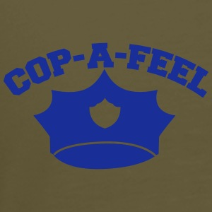 Funny police design Cop-a-feel officer cops Bags & Backpacks - Men's Premium T-Shirt