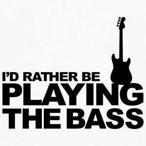 I'd Rather be playing the Bass Bouteilles et tasses - T-shirt manches longues Premium Homme