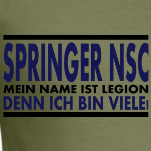 Shopper - Springer NSC, Legion - Männer Slim Fit T-Shirt