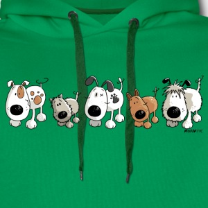 Funny Dogs - Dog - Doggy- Cartoon Shirts - Men's Premium Hoodie