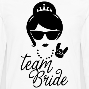 Team Bride Wedding Bridesmaids Stag Hen night do  Aprons - Men's Premium Longsleeve Shirt