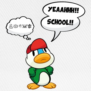 Cartoon duck, school - no school, bad school T-Shirts - Baseball Cap