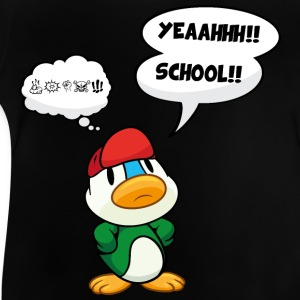 Cartoon duck, school - no school, bad school Shirts - Baby T-Shirt