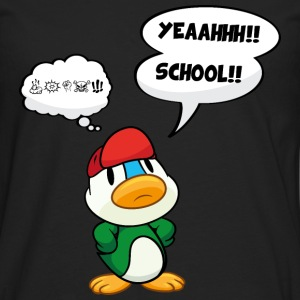 Cartoon duck, school - no school, bad school Shirts - Men's Premium Longsleeve Shirt