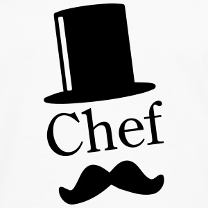 Like a Chef / Like a Sir / Mustache / Moustache 1c Sweatshirts - Herre premium T-shirt med lange ærmer