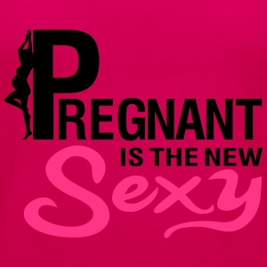 Pregnant is the new SEXY T-skjorter - Premium singlet for kvinner