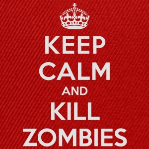 Keep calm and kill zombies - Czapka typu snapback