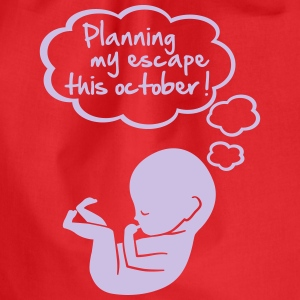 planning my escape this october T-Shirts - Drawstring Bag