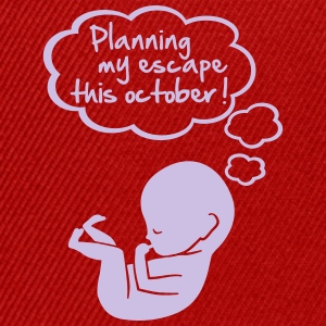 planning my escape this october T-Shirts - Snapback Cap