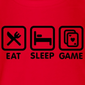 Eat - Sleep - Game Tee shirts - Body bébé bio manches courtes