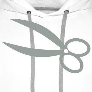 Sharp scissors hair cutting scissors hair 1c Shirts - Men's Premium Hoodie