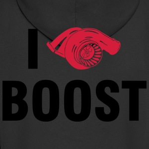 I love BOOST T-Shirts - Men's Premium Hooded Jacket