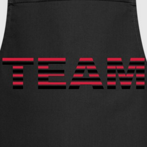 Team Stripes Camisetas - Delantal de cocina