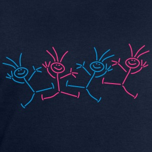 Happy Party Stick Figures T-shirts - Sweatshirt herr från Stanley & Stella