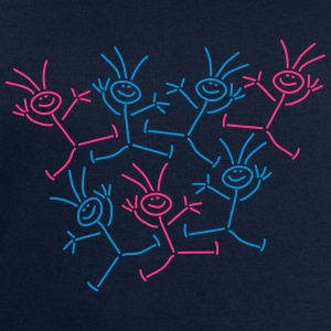 Happy Party People Stick Figures T-Shirts - Men's Sweatshirt by Stanley & Stella