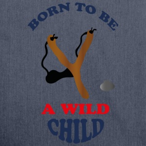 Wild child by Lola T-Shirts - Schultertasche aus Recycling-Material