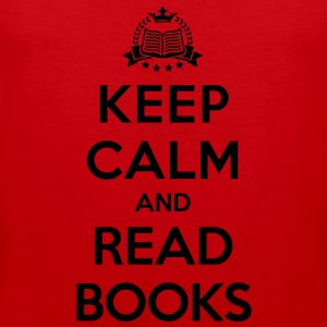 Keep calm and read books - Men's Premium Tank Top