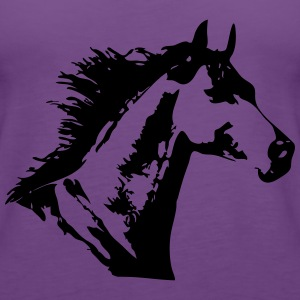 Beautiful Horse Head T-shirts - Vrouwen Premium tank top