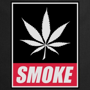 T-shirt inscription SMOKE et feuille de cannabis - Tablier de cuisine