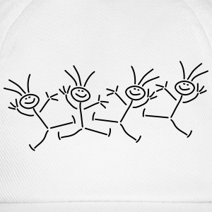 Happy Party Stick Figures T-Shirts - Baseball Cap