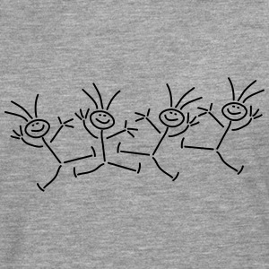 Happy Party Stick Figures T-Shirts - Men's Premium Longsleeve Shirt