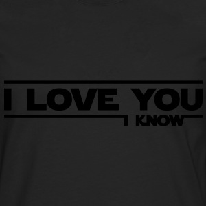 I love you, I know (Star Wars) - T-shirt manches longues Premium Homme