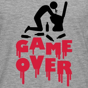 Vomit Toilette Game Over T-Shirts - Männer Premium Langarmshirt