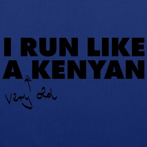 I Run Like A (Very Old) Kenyan T-skjorter - Stoffveske
