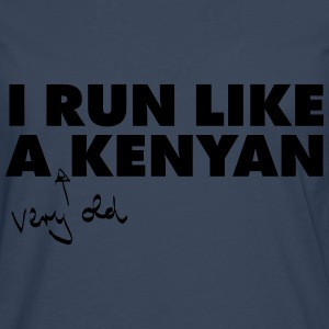 I Run Like A (Very Old) Kenyan T-skjorter - Premium langermet T-skjorte for menn