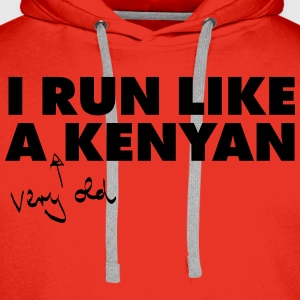 I Run Like A (Very Old) Kenyan T-shirts - Mannen Premium hoodie