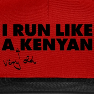 I Run Like A (Very Old) Kenyan T-Shirts - Snapback Cap
