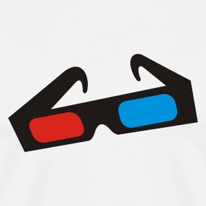 Sand/charcoal 3d glasses brille Long sleeve shirts - Men's Premium T-Shirt