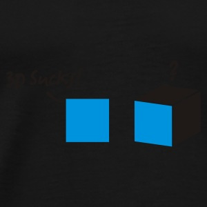 Sort 3d vs. 2d Tasker - Herre premium T-shirt