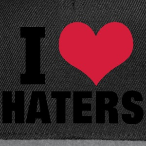 I LOVE HATERS T-shirts - Snapback cap