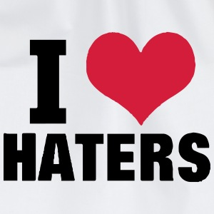 I LOVE HATERS T-Shirts - Drawstring Bag