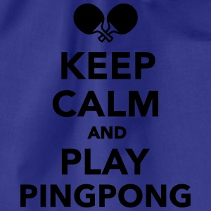 Keep calm Ping Pong T-Shirts - Turnbeutel