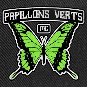 Papillons Verts MC Tee shirts - Casquette snapback