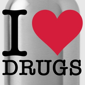 Rosa chiaro I Love Drugs (2c, NEU) T-shirt - Borraccia