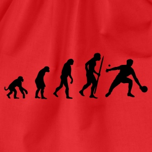 Rood Evolution of ping pong T-shirts - Gymtas