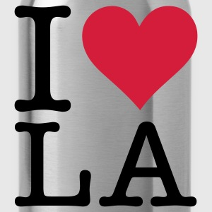 Rosa chiaro I Love LA Los Angeles (2c, NEU) T-shirt - Borraccia