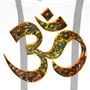 Sacred OM (AUM - I AM), DD, manifestation of spiritual strength, The energy symbol gives , peace and bliss T-Shirts - Men's Premium Hoodie