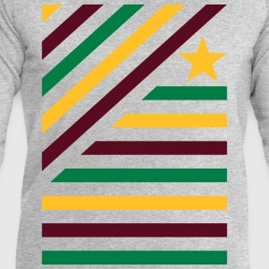Farbspeil in diagonal stripes and star 2  T-Shirts - Men's Sweatshirt by Stanley & Stella