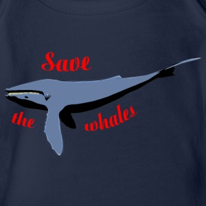 save the whales Shirts - Organic Short-sleeved Baby Bodysuit