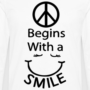Peace begins with a smile Women's Plus size T-shir - Men's Premium Longsleeve Shirt
