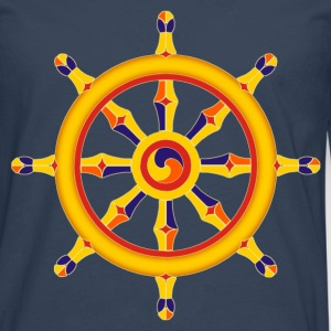 Wheel of Dharma T-Shirts - Men's Premium Longsleeve Shirt