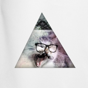 Heather grey hipster moustache triangle cat swag style T-Shirts - Men's Football shorts