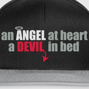 an angel at heart, a devil in bed T-Shirts - Snapback Cap