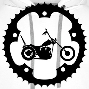 Chainring chopper  T-Shirts - Men's Premium Hoodie