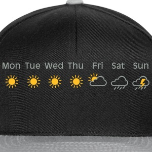 bad weekend weather T-shirts - Snapback cap