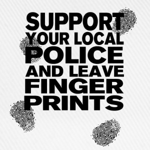 Support The Police - Leave Fingerprints Black T-Shirts - Baseballkappe